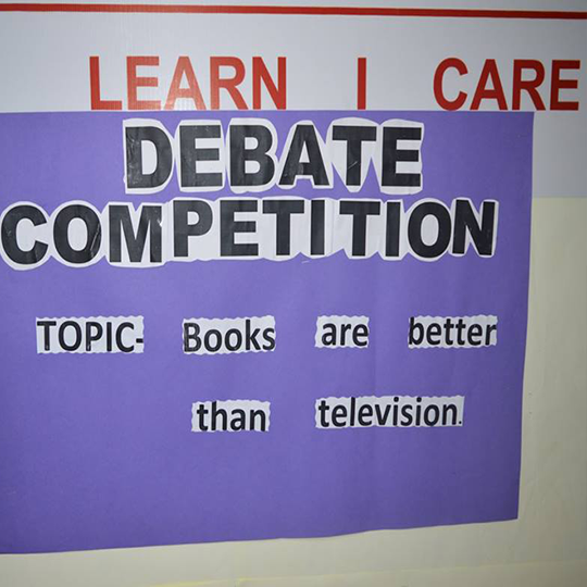 English Debate Activity of Class 4