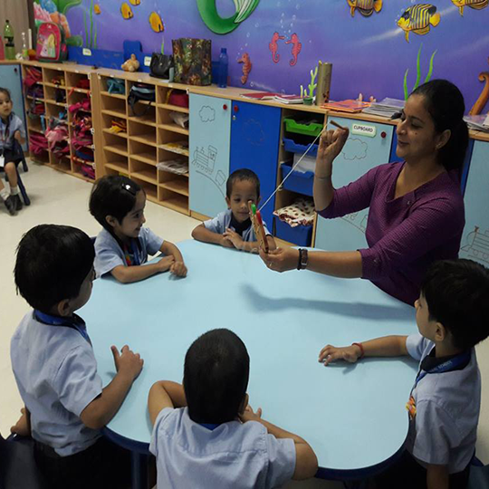Pre-Nursery- 'FUN WITH LACING BOARD'