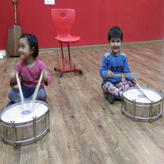 CLASS-NURSERY - 'PLAYING MUSICAL INSTRUMENTS'