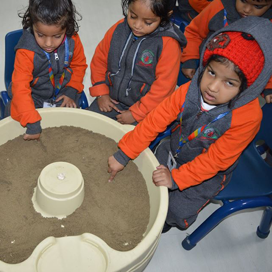 Pre-Nursery Class - Sand Tracing Activity
