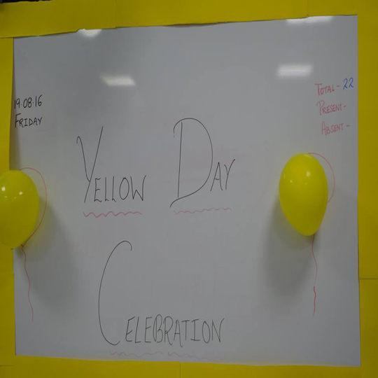 Pre-Nursery - Celebrating Yellow Colour